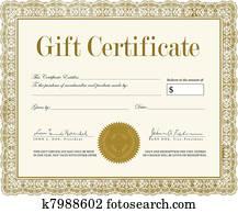 Vector Ornate Gift Certificate