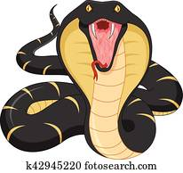 angry snake cartoon