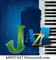abstrakt, jazz- musik, hintergrund