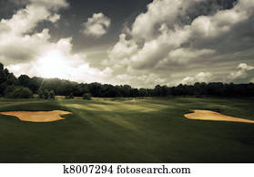 Evening at the golf course