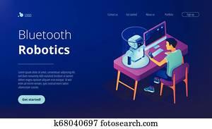 robotik, programmierung, isometric3D, landung, page.