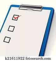 clip art of blank clipboard k21611928 search clipart illustration