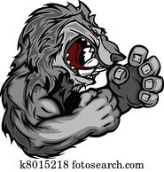 Graphic Vector Image of a Wolf or C