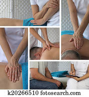 Massage Therapy Collage