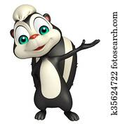 pointing Skunk cartoon character