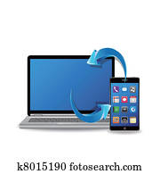 synchronize laptop and smart phone