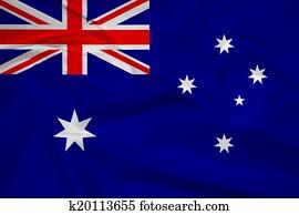 Waving Australia Flag