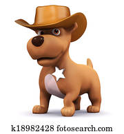 3d Sheriff puppy