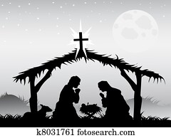 nativity scene, vector