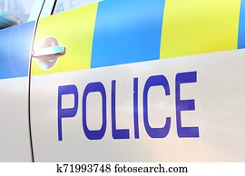 Police car door - accident/ crime news/ breaking news - United Kingdom