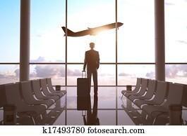 businessman in airport