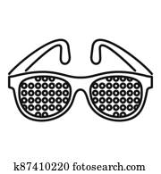 Examination control eyeglasses icon, outline style