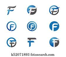 F Letter Logo Business Template
