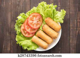 Table Napkin Spring Roll Decoration Food Styling Chinese Spring Roll