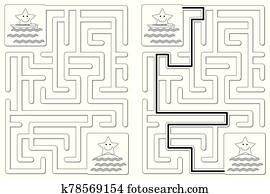 Easy little stars maze