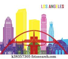 Los Angeles skyline pop