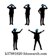 8f1201f7 Mand, folk, holdningen, krop sprog Clipart | k13397005 | Fotosearch