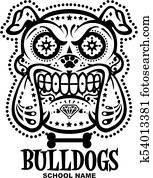 sugar skull bulldogs