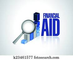 financial aid business graph illustration