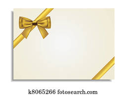 Golden Bow Around the Gift Card