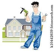 handyman with house