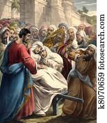 Jesus raises boy from dead