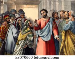 Jesus says Render to Caesar