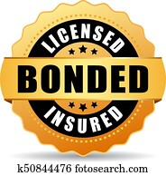 Licensed bonded insured icon