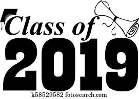 Class of 2019 with Graduation Cap