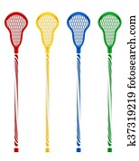 lacrosse sticks illustration