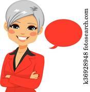 Senior Confident Businesswoman
