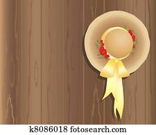 675efa50d5d Stock Photo of Gondolier with red ribbon straw hat on stern of ...