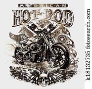 american hot rod motorcycle
