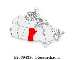 Map of Manitoba. Canada.