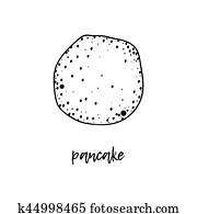 Pancake is a symbol of Russian holiday Maslenitsa,