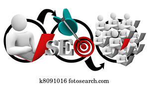 Search Engine Optimization SEO Diagram Increase Traffic