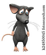 Cartoon mouse looking very sad.