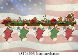 Military Christmas Stockings
