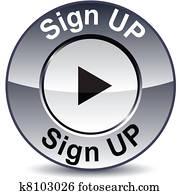 Sign up round button.