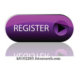 Vector purple register button