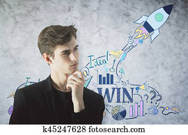 Young entrepreneur concept
