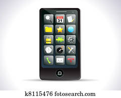 abstract detailed touch mobile icon