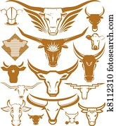 Cow and Bull Head Collection
