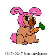 Dog costume rabbit