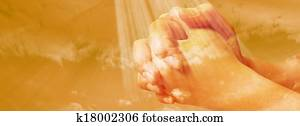 Hands praying - facebook timeline