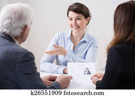 Human resources team during job interview