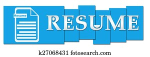 Resume Blue Stripes With Icon