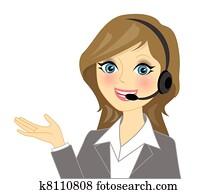 Vector telephone operator