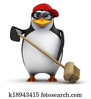 3d Cleaner penguin