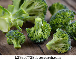 Broccoli on old wooden